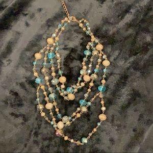 Aldo Layered Beaded Necklace